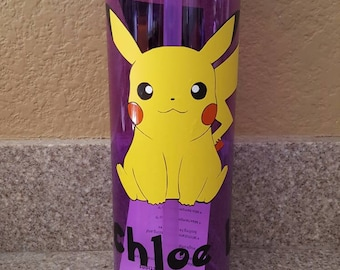 Pokémon inspired personalized water bottle