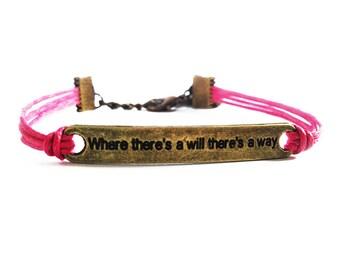 Inspirational Bracelet, Friendship Bracelet, Quote Bracelet, Gifts For Girls Bracelet, Best Friend Gift, Charm Bracelet, Inspiring Jewelry