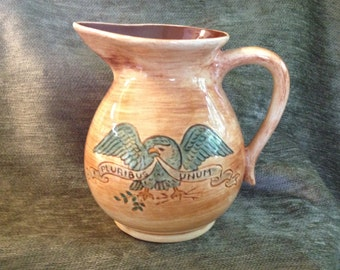 Pennsbury Pottery Pitcher, Patriotic Pitcher, Pennsbury Pottery Milk Pitcher, Eagle Pitcher