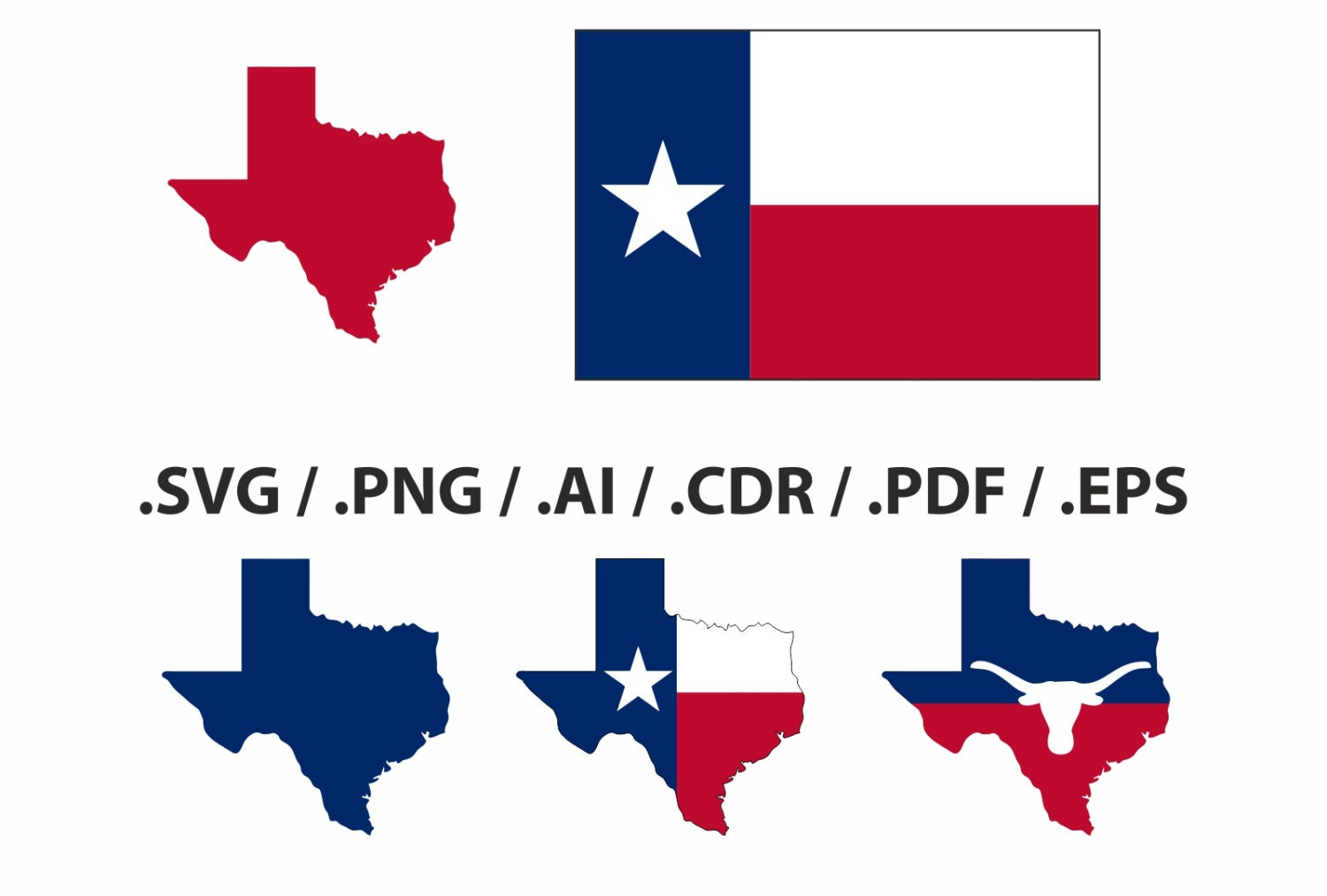 Texas state map flag and symbols clipart collection ai zoom buycottarizona