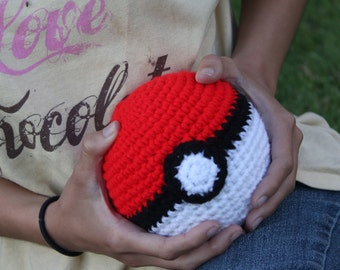 Life Size Pokeball / Great Ball -  Cosplay Prop - Crocheted Pokemon Plush - Pokemon Go