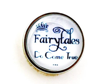 Aww Snap! Fairy Tales Do Come True  Interchangeable snap for 18mm Aww Snap bracelets, necklaces and hair accessories. Noosa, chunks, poppers