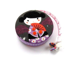 Measuring Tape Kokeshi Dolls Retractable Tape Measure