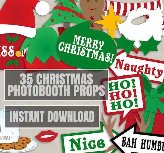35 christmas party photo booth props christmas photo props 35 christmas party photo booth props christmas photo props xmas photobooth props happy holidays photobooth christmas party decor diy solutioingenieria Images