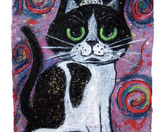 Sophi the Cat - MATTED PRINT