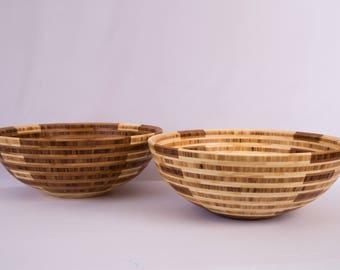 "15"" x 5.75"" Segmented Bamboo Bowl ""Fourays"""