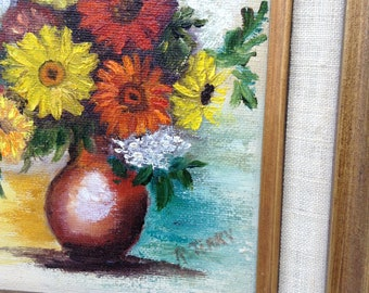 Vintage Original Oil on Canvas, Signed by the Artist, R. Terry