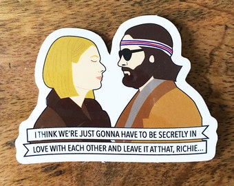 Margot and Richie Sticker - The Royal Tenenbaums Wes Anderson Vinyl Stickers