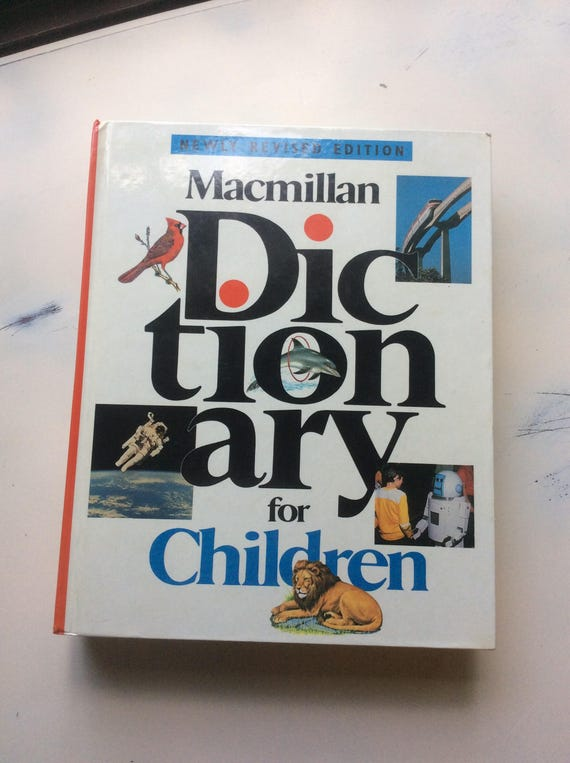 Vintage Macmillan dictionary for children, children's dictionary, Judith S. Levey editor, vintage children's dictionary, vintage books