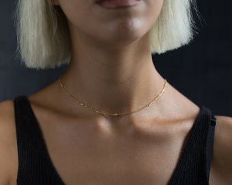 Minimalist Jewelry - Choker Necklace Chain - Layered Necklace - Layering Necklace - Chain Necklace - Necklace - Chain Choker - Gold Chain