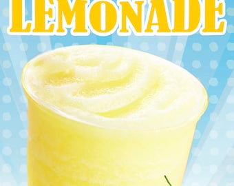 Poster Frozen Lemonade Poster Wall decor Fast-food Restaurant Drink Poster