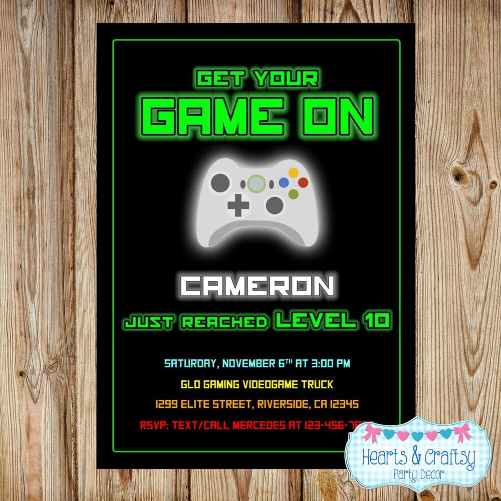Gaming Invitation / Video Game Invitation / Videogame Birthday