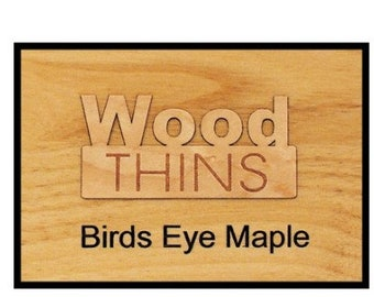 Birds Eye Maple Wood Thins For Engraving (5 Pack)