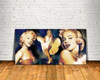 Marilyn Monroe Canvas High Quality Giclee Print Wall Decor Art Poster Artwork