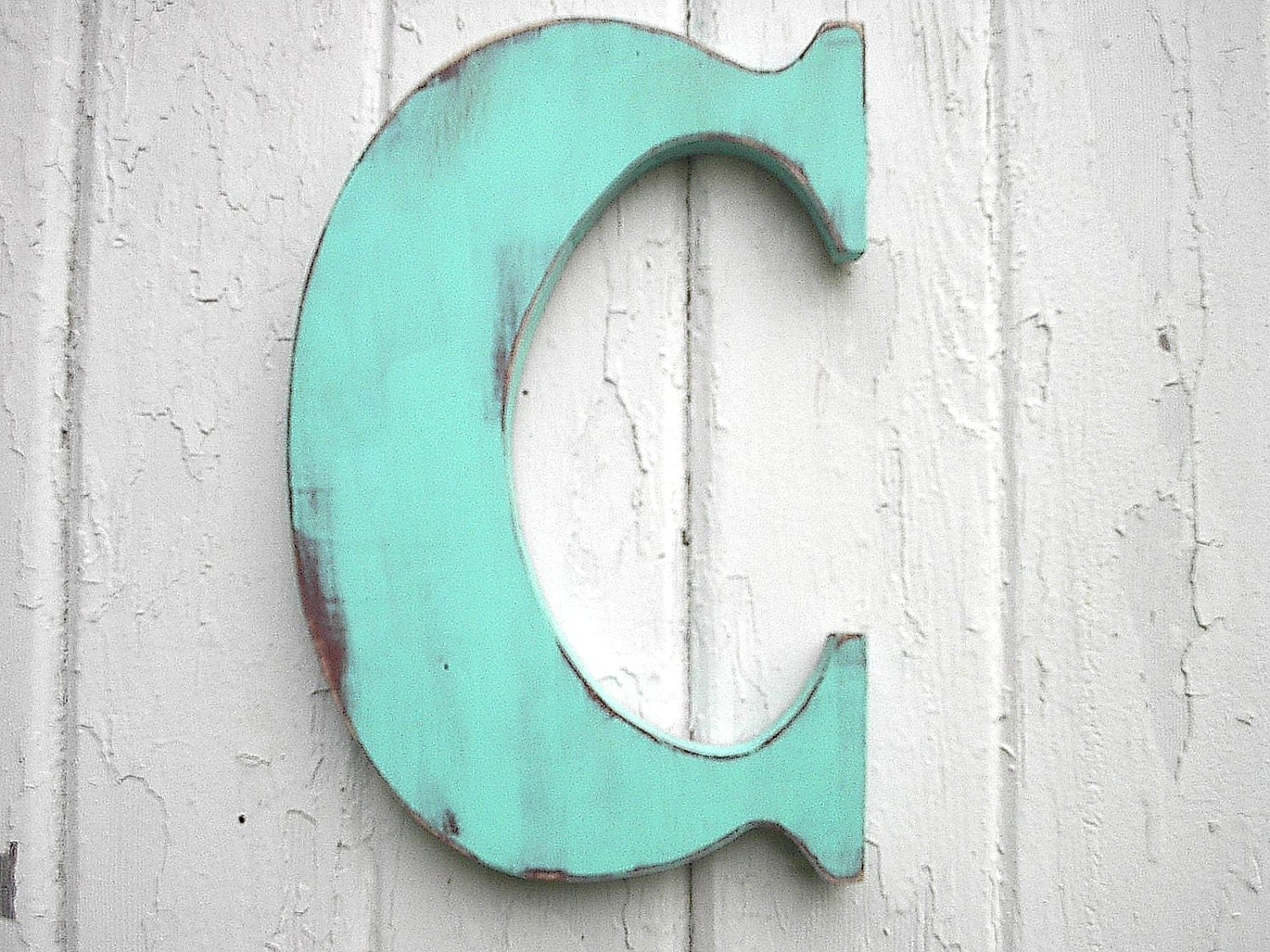 Letter C Wall Hanging Wooden Letters C 12 Inch Patina Wall Decor Kids