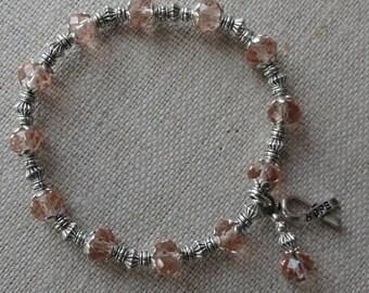 108 Uterine/Endometrial Cancer Awareness Bracelet