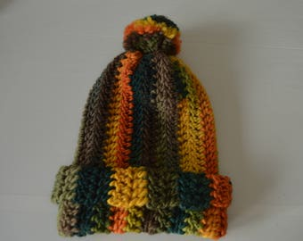 Reagge inspired slouchy beanie