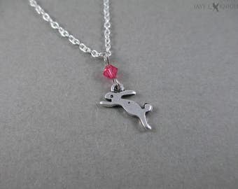 Writer Plot Bunny Charm Necklace - NaNoWriMo - OYAN - Camp NaNo - Young Writer - Writer Gift - Author Gift - Silver