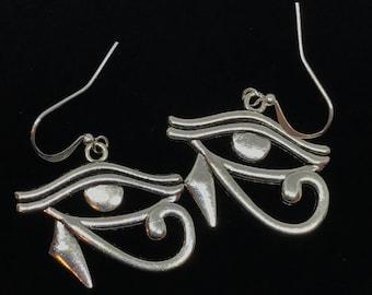 Eye Of Horus Earrings, Eye Of Ra Earrings, Wadjet Earrings, Egyptian Earrings, Eye Of Horus Dangle Earrings, Wadjet Jewlery, Eye Of Horus