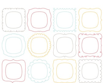 Then & Now Frames Digital Clipart Clip Art Illustrations - instant download - limited commercial use ok