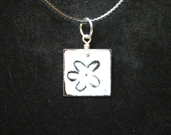 Enameled Jewelry, Enameled Necklace, Pendant Necklace, torch-fired