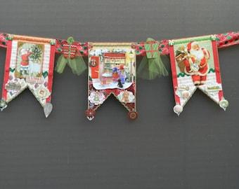 Christmas Vintage Toy Shop Santa Banner
