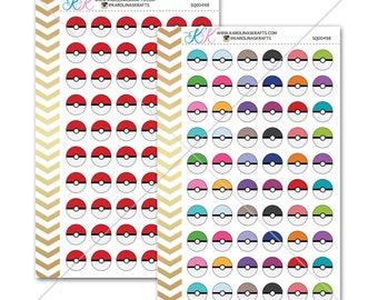 Pokemon Stickers for planner, calendar! Functional planner stickers game sticker functional sticker pokeball sticker #SQ00498