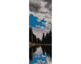 Lake 2 Peyote Bead Pattern, Bracelet Cuff Pattern, Bookmark Pattern, Seed Beading Pattern Miyuki Delica Size 11 Beads - PDF Instant Download