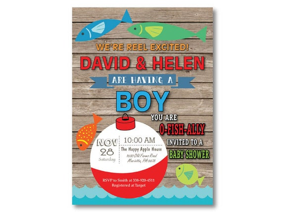 Fishing baby shower invitation fishing invitation boy fish like this item filmwisefo Image collections