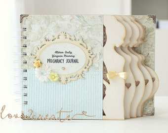 Week by week Personalized Pregnancy Journal Pregnancy diary Pregnancy album Mom to be journal Maternity gift Pregnancy gift Expecting mom