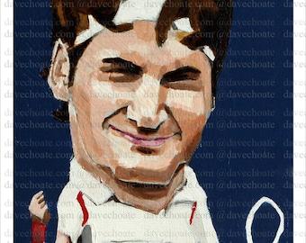 Roger Federer Art Photo Print