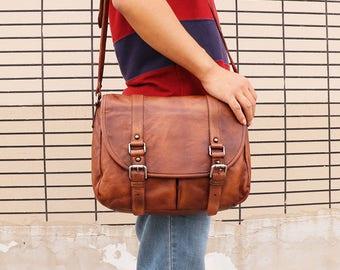 leather bag shoulder bag leather messenger bag laptop bag mens travel bag student bag college bag ipad bag leather satchel crossbody bag