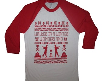 raglan walker in a winter wonderland funny zombie christmas dead rip ugly xmas shirt walking t sweater party secret santa the apocalypse