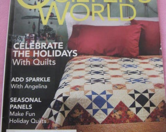 Quilter's World, 1 quilt magazines, 2007, back issue