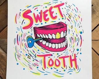 Sweet Tooth Screen Print