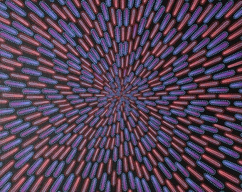 Modern painting : Blue and red particle.