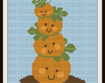 C2C Graph, Pumpkin Tower, C2C Graph,  Written Word Chart, pumpkin Graph, pumpkin C2C, pumpkin graph,