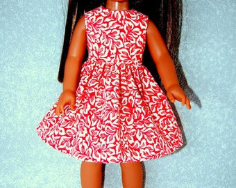 "Dress for 14.5"" Wellie Wishers or Melissa & Doug Doll Clothes handmade melon color tkct1229 rts READY TO SHIP"