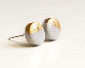 GLOSSY GOLD-Silver grey Kreisohr plug