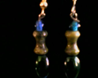 Blue and green Stone Dangles