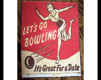 retro bowling patches vintage 1950s sew on bowling alley matchbook patch rockabilly bowl kitsch
