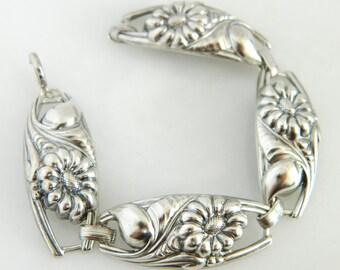 Beautiful Vintage Sterling Silver Link Bracelet