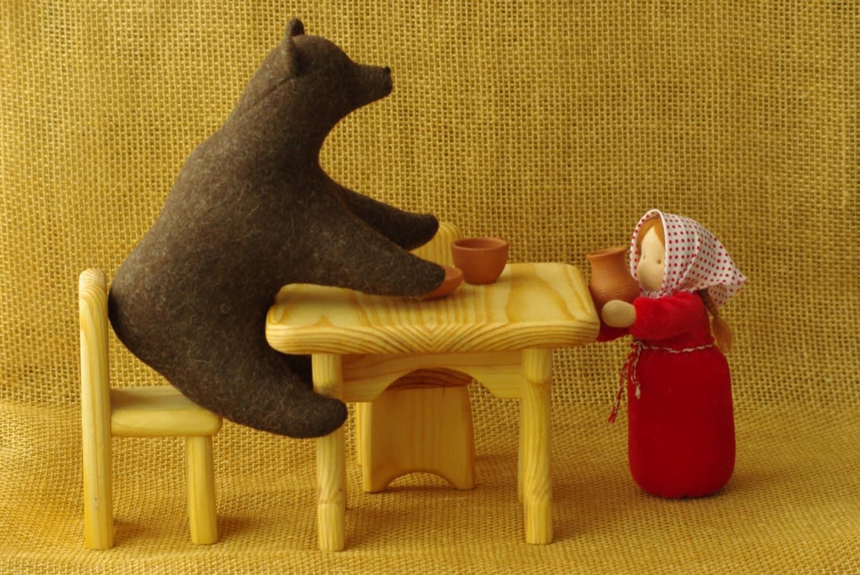 La Masha Y El Oso Cuento De Hadas Mu Ecas Waldorf Animales # Muebles Cuento De Hadas