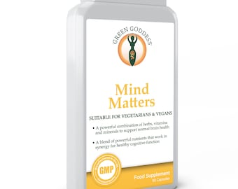 Mind matters natural supplements for brain health and cognitive function with essential nutrients and amino acids 90 capsules.