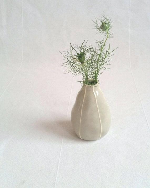 Gray Ceramic Bud Vase Handmade Modern Pottery Vase Gray And