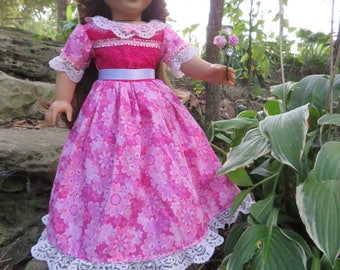 "Simply Fancy 18"" Doll American Girl Doll, Formal Gown, pink, Free Shiping!"