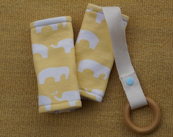 Yellow Elephants Organic Baby Carrier Teething Pads. Drool Pads. Baby Wearing. Protective Pads. Teething Pads. Ergo. Boba. Beco. Lillebaby.