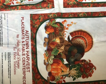 AUTUMN HARVEST Placemats & Table Centerpiece by Patty Reed Designs