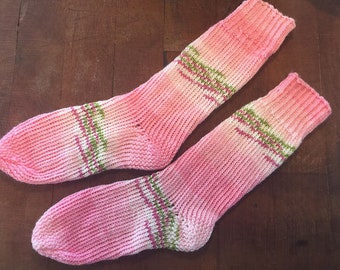The Beauty of Beltane ~ hand knit socks