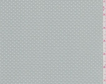 Icy Grey Athletic Mesh, Fabric By The Yard